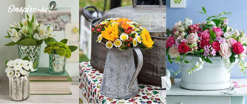 como montar um mini arranjo de flores utilizando uma caneca ou xícara