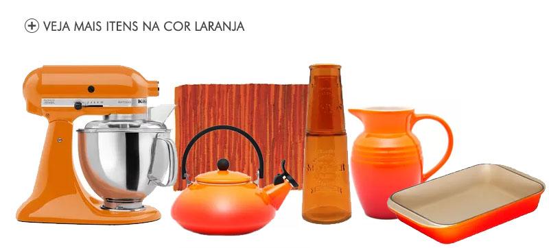 produtos na cor laranja