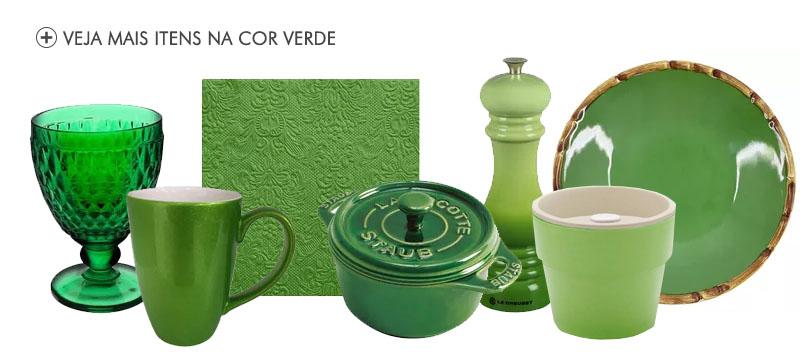 produtos na cor verde