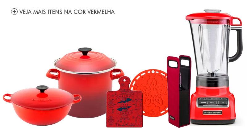 Produtos na cor vermelha