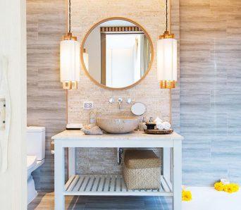 banheiro limpo com cinco dicas