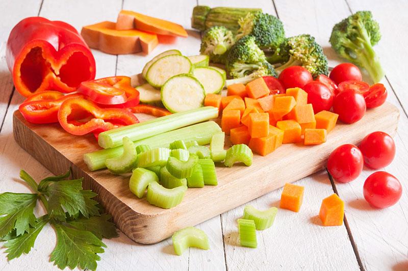 cortes em vegetais