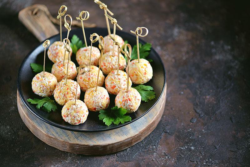 bolinhas de queijo de cabra