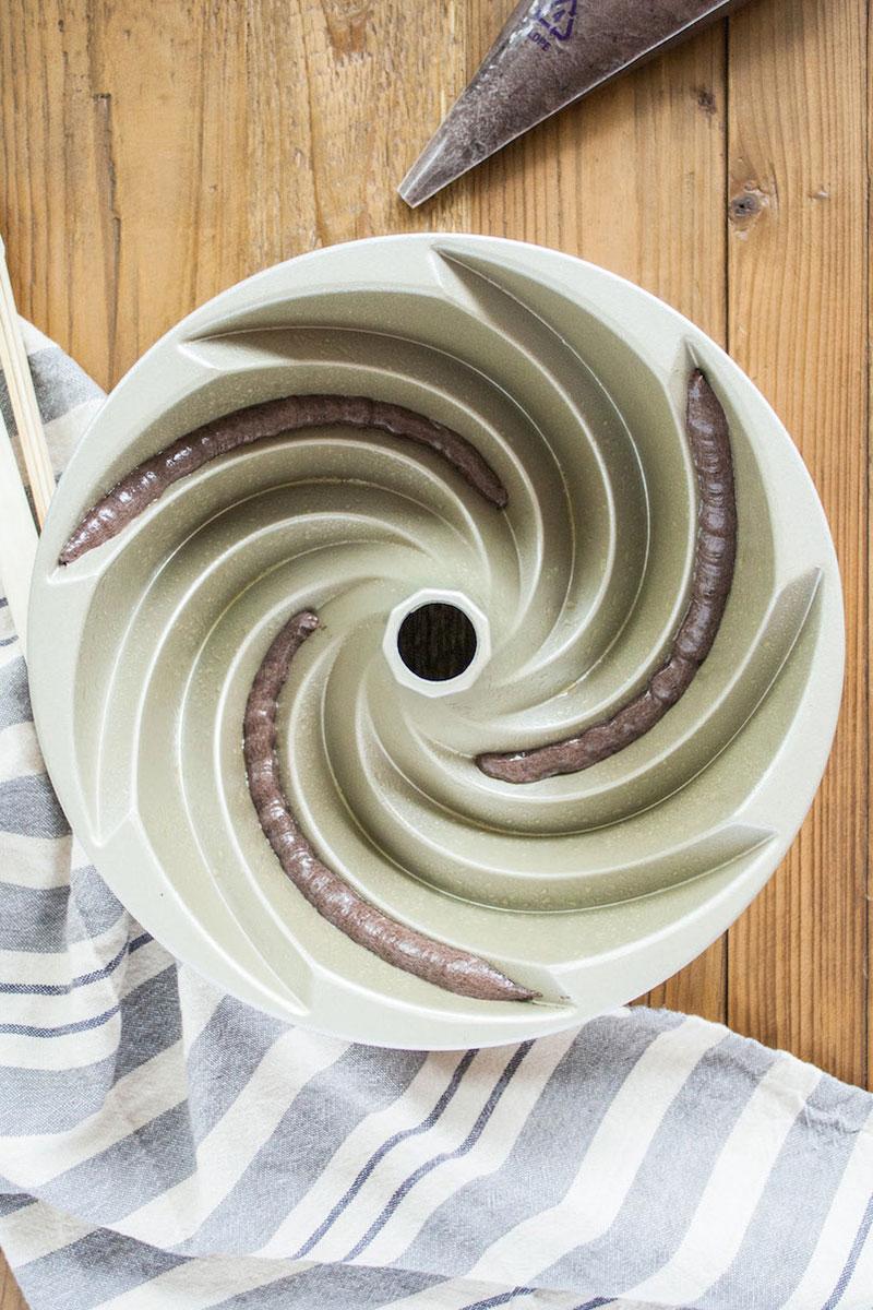 bolo espiral colorido