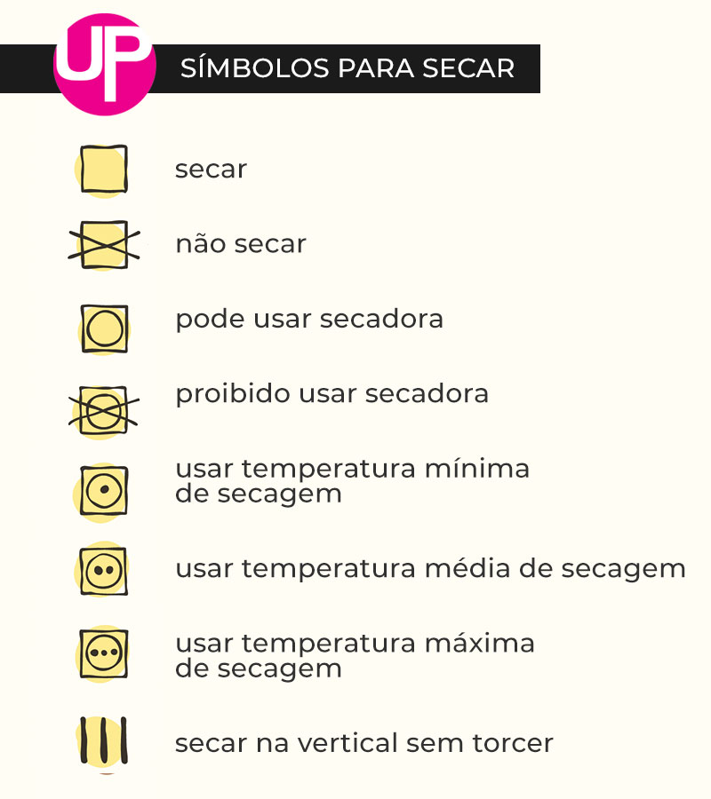 símbolos para secar