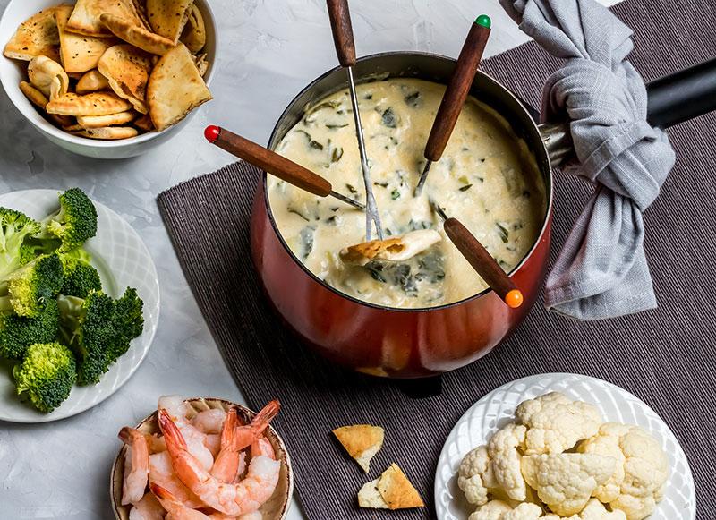 acompanhamentos para fondue