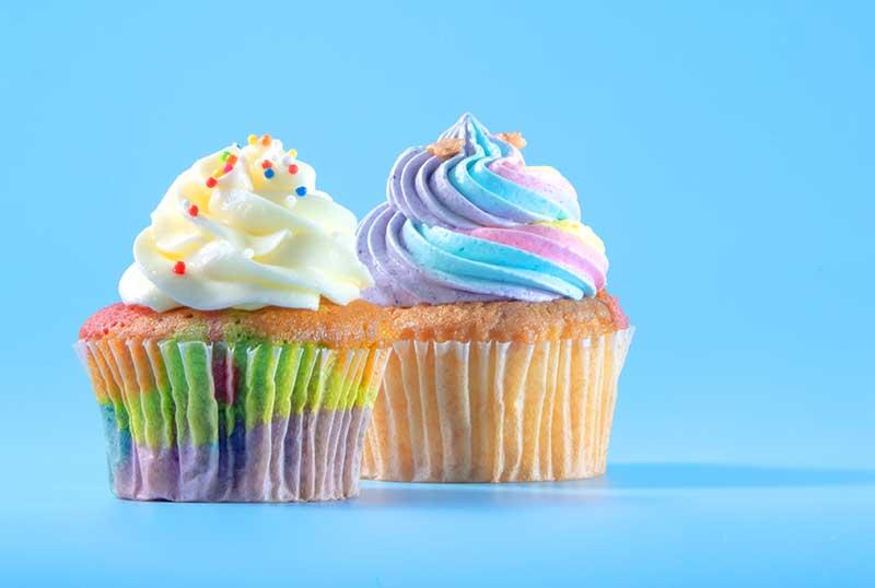 cupcake rainbow