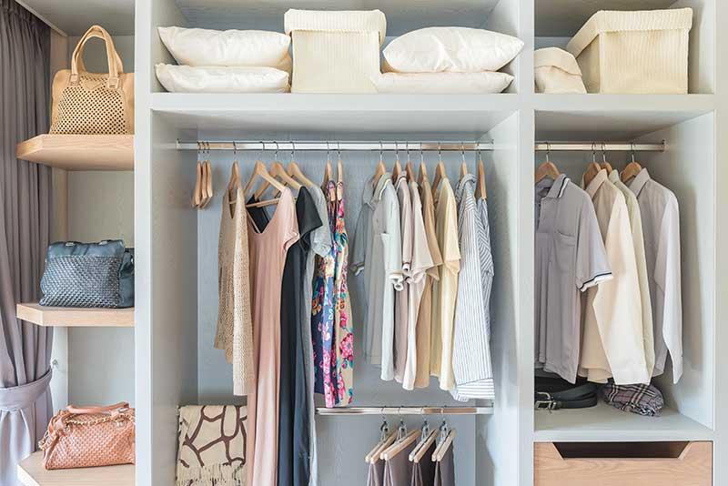 cinco dicas para organizar o closet